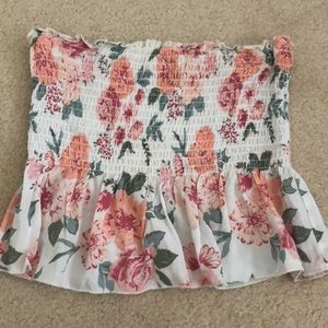 Garage Floral Tank/Tube Top